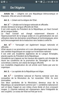 Constitution Algérienne screenshot 9