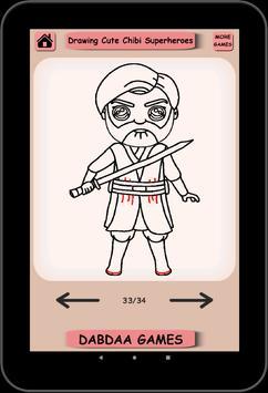Drawing Cute SuperHero, Drawing Easy Kawaii Hero screenshot 3