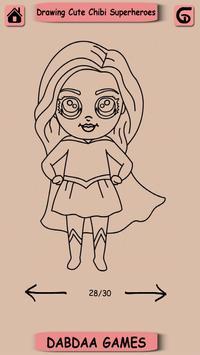 Drawing Cute SuperHero, Drawing Easy Kawaii Hero screenshot 1