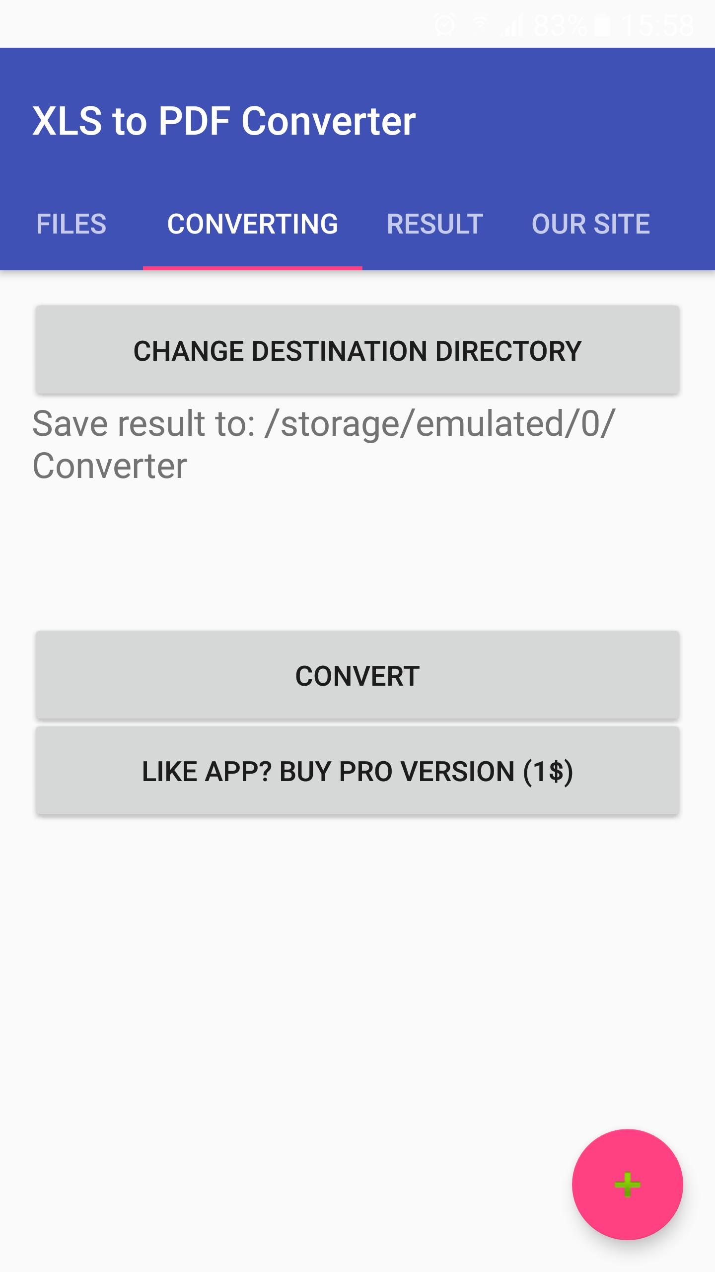 Spreadsheet (XLS, XLSX, ODS, CSV) to PDF Converter for Android - APK