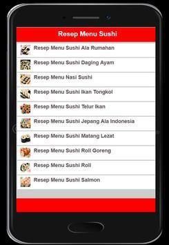Resep Menu Sushi screenshot 4