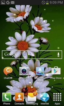 White Flowers Beauty LWP screenshot 1