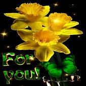 Yellow Magic Flowers LWP icon