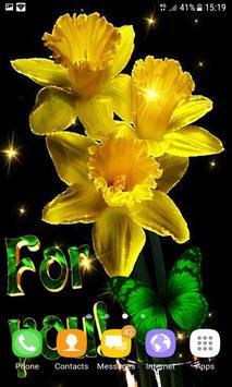 Yellow Magic Flowers LWP screenshot 2