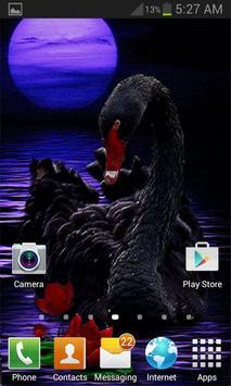 Black Swan Live Wallpaper screenshot 1