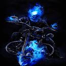 Blue Fire Bike LWP APK