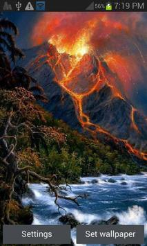 Hilly Volcano Live Wallpaper poster