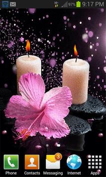 Pink Flower Candle LWP screenshot 1
