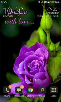 Purple Lovely Rose LWP screenshot 2