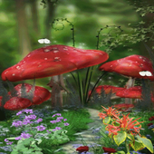 Red Mushroom Live Wallpaper icon