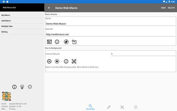 Web Macro Bot ảnh chụp màn hình 9