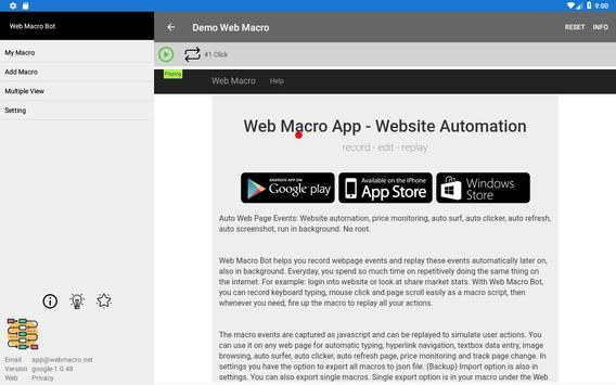 Web Macro Bot ảnh chụp màn hình 10