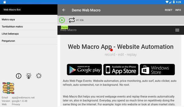 Bot Makro Web   Alat otomatisasi situs web screenshot 18