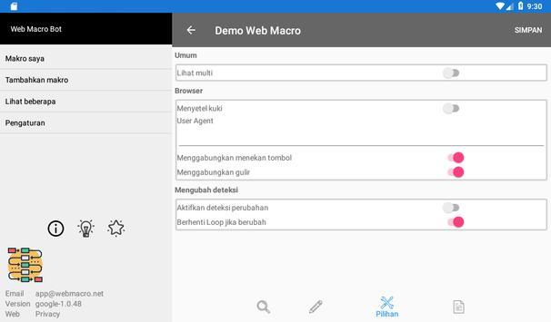Bot Makro Web   Alat otomatisasi situs web screenshot 21