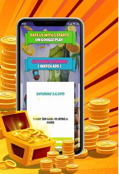 Take Coins and Spins Daily Link 2019 poster