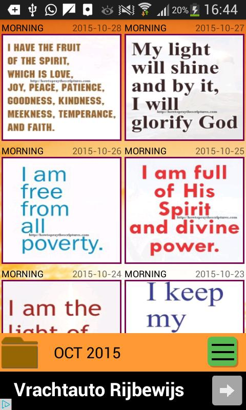 Daily Christian Confessions - Bible Affirmations for Android