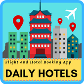 DAILY HOTEL - Hotel & Flights Reservation App icon