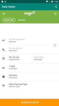 DAILY HOTEL - Hotel & Flights Reservation App poster