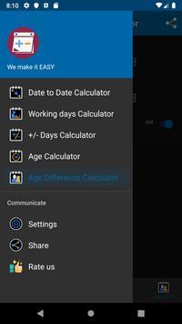 Date Calculator screenshot 1