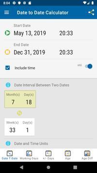 Date Calculator screenshot 2