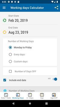 Date Calculator screenshot 3