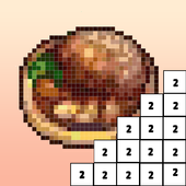 Food Coloring by Number - Pixel Art 2019 icon