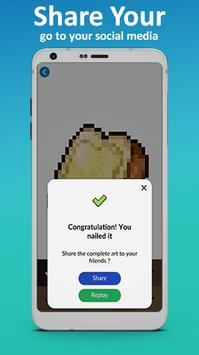 Food Coloring by Number - Pixel Art 2019 screenshot 4