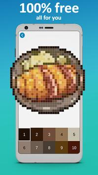Food Coloring by Number - Pixel Art 2019 poster