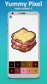 Food Coloring by Number - Pixel Art 2019 screenshot 2