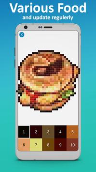 Food Coloring by Number - Pixel Art 2019 screenshot 3