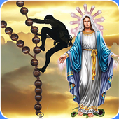 Holy Rosary in english icon