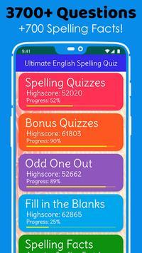 Ultimate English Spelling Quiz : New 2020 Version screenshot 1