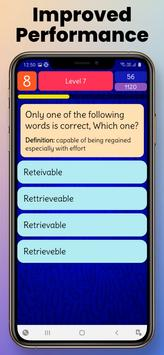 Ultimate English Spelling Quiz : New 2021 Version capture d'écran 5