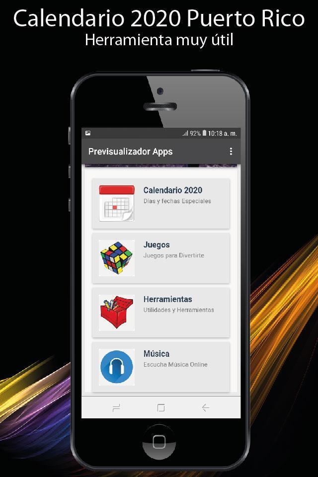 Calendario 2020 Puerto Rico Con Festivos For Android Apk Download