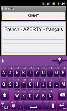 SlideIT French AZERTY Pack screenshot 1