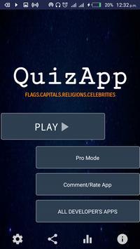 Quiz App - Nations' flag,capitals,religions,celebs poster