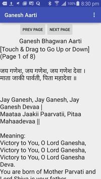 Ganesh Aarti - Hindu Prayer poster