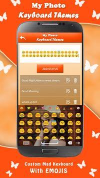 my photo keyboard themes with emojis screenshot 2