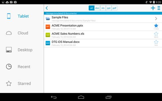 Docs To Go™ Free Office Suite screenshot 14