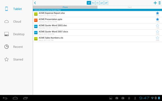 Docs To Go™ Free Office Suite screenshot 8