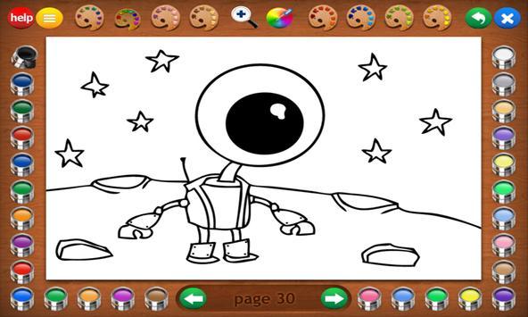 Coloring Book 14 Lite: Robots screenshot 7
