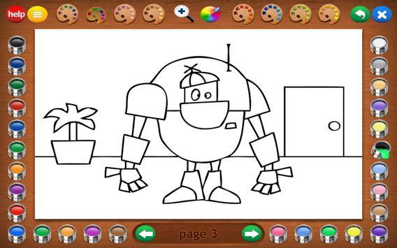 Coloring Book 14 Lite: Robots screenshot 10