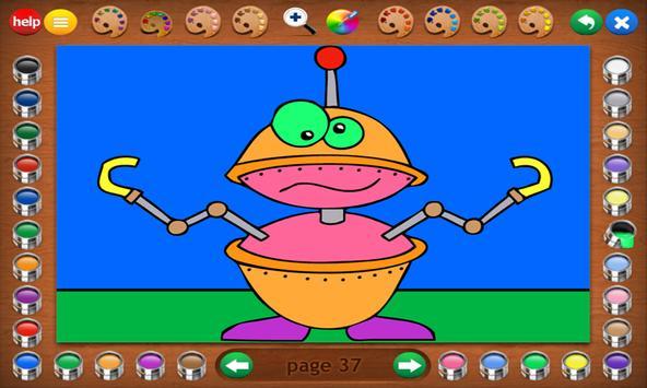 Coloring Book 14 Lite: Robots screenshot 17