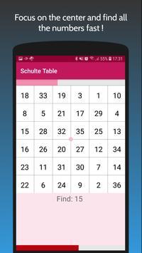 Schulte Table screenshot 1