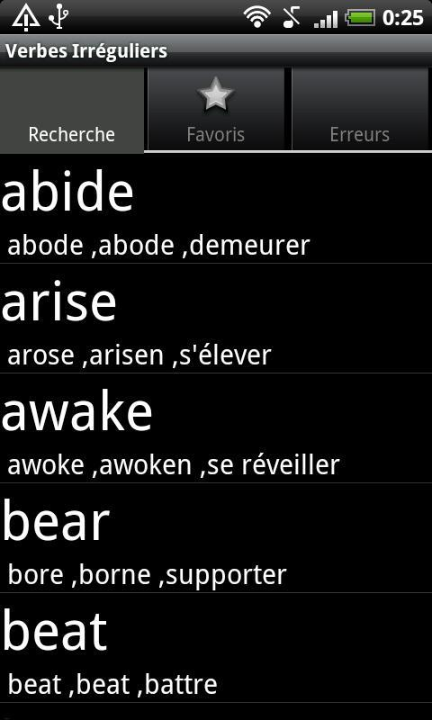 Verbes Irreguliers En Anglais For Android Apk Download