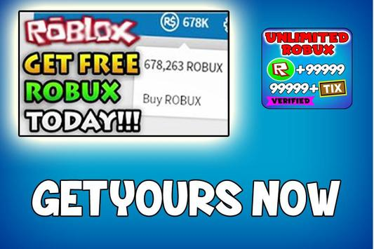 Free Robux Tips - Earn Robux Free Today 2019 screenshot 1