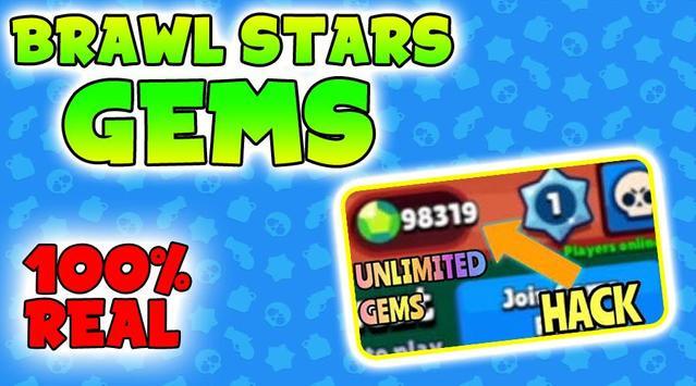 Get Gems For Brawl Stars Now - Gems Free Tips 2019 poster