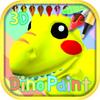Dinosaur Coloring 3D - AR ikon