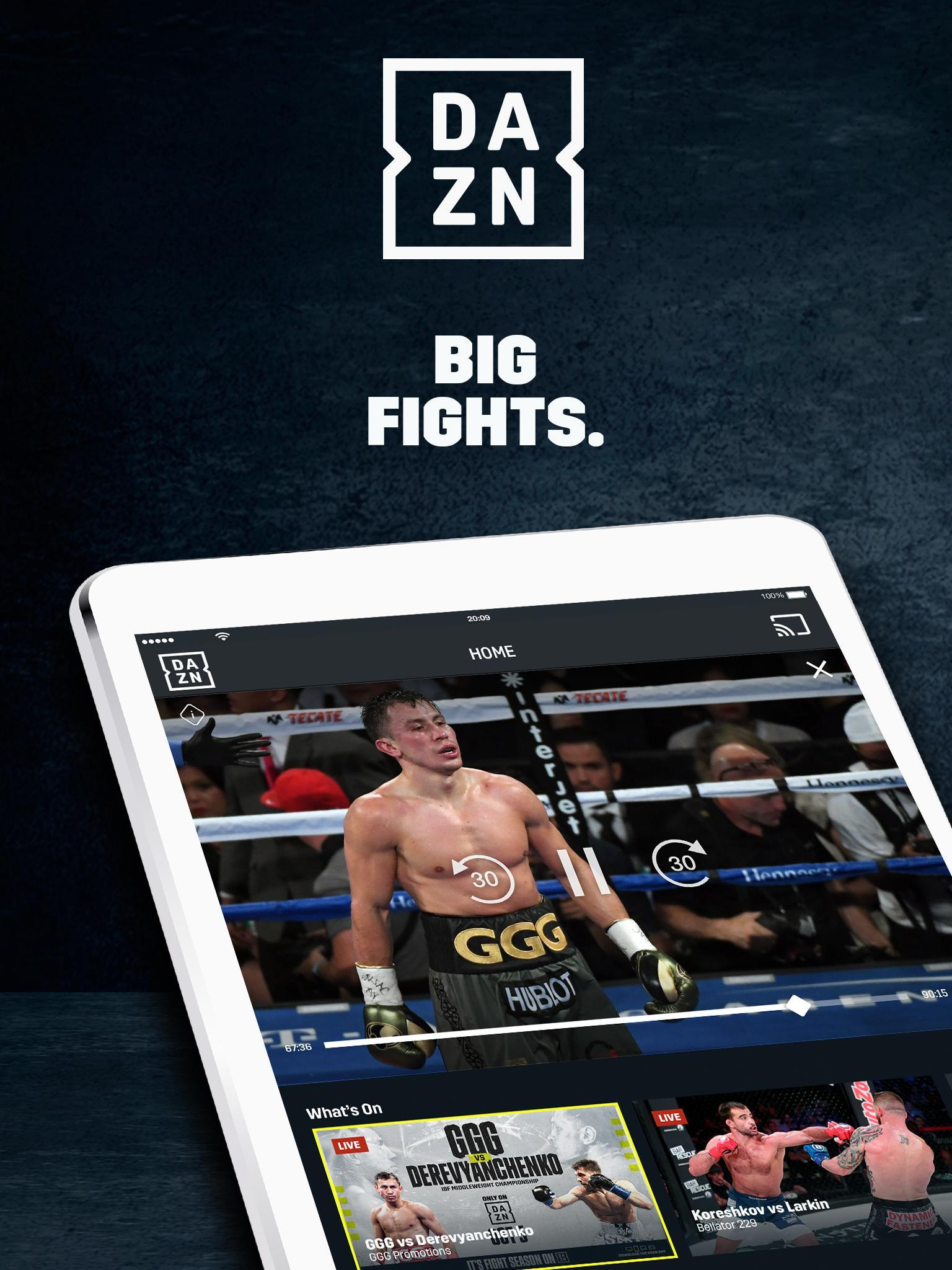 DAZN screenshot 1
