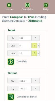 Compass Calculator स्क्रीनशॉट 2